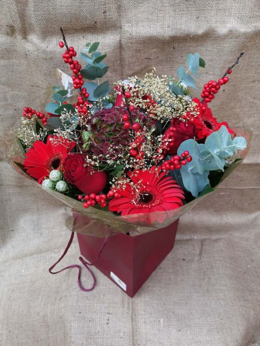 Roses, Hydrangea and Germini and Mixed Greenery