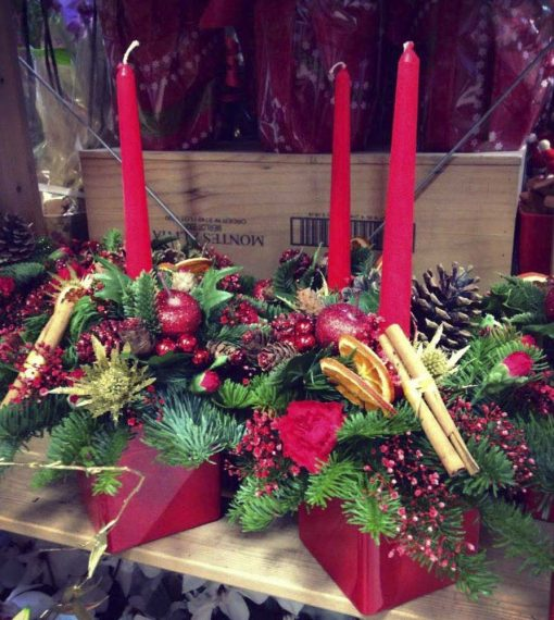 Rosevale candle arrangement