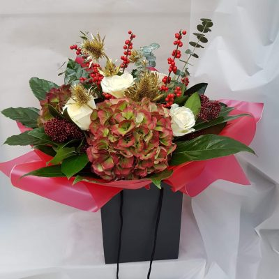 Wheaton Christmas Presentation Bouquet