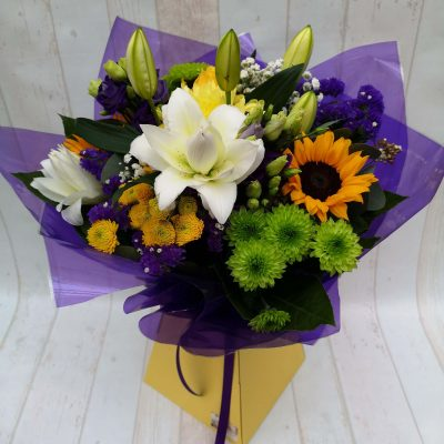 Annesbrook flower bouquet including sunflowers